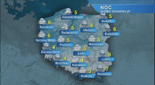 Prognoza pogody na noc 29/30.10